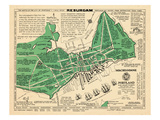 1932, Portland Historical Facts Map, Maine, United States Giclee Print