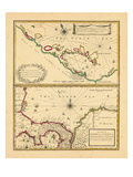 1721, Costa Rica, West Indies Giclee Print