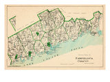 1893, Fairfield County - South Part, Connecticut, United States Giclee Print