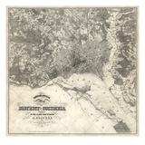 1861, Washington D.C. Topographic Map, District of Columbia, United States Reproduction procédé giclée