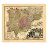 1740, Portugal, Spain Giclee Print