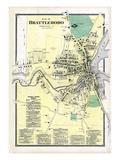 1869, Brattleboro Plan, Vermont, United States Giclee Print
