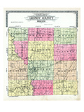 1915, Grundy County Outline Map, Missouri, United States Giclee Print