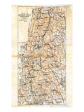 1904, Berkshire County Map, Massachusetts, United States Giclee Print