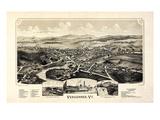 1890, Vergennes 1890c Bird's Eye View, Vermont, United States Giclee Print