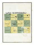 1897, Caldwell County Map, Missouri, United States Giclee Print