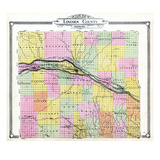1907, Lincoln County Outline Map, Nebraska, United States Giclee Print