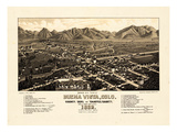 1882, Buena Vista Bird's Eye View, Colorado, United States Giclee Print