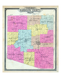 1910, Randolph County Outline Map, Missouri, United States Giclee Print
