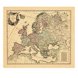 1751, Europe Giclee Print