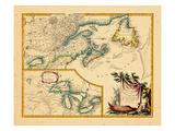1755, New Brunswick, Nova Scotia, Ontario, Prince Edward Island Giclee Print