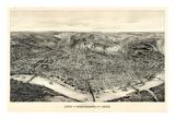 1900, Cincinnati Bird's Eye View, Ohio, United States Giclee-trykk