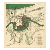 1863, New Orleans City Approaches, Louisiana, United States Giclee Print