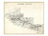 1930, Gogebic County, Ironwood, Wakefield, Bessemer, Marenis, Watersmeet, Erwin, Dunham, Thayer, Ha Giclee Print