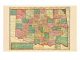 1907, Oklahoma and Indian Territory, Oklahoma, United States Giclee Print