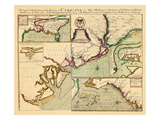 1711, Carolina A complete description of the province of Carolina in 3 parts, South Carolina Giclee Print