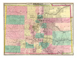 1878, Colorado State Map, Colorado, United States Giclee Print