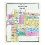1873, Washington, Illinois, United States Giclee Print