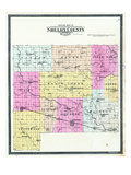 1902, Shelby County Outline Map, Missouri, United States Giclee Print