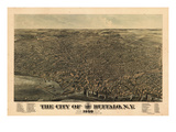 Buffalo 1880 Bird's Eye View, New York, United States Giclee Print
