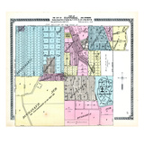 1913, Hannibal City - Section 33 and Part of Section 34, Missouri, United States Giclee Print