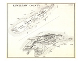 1930, Keweenaw County, Eagle Harbor, Houghton, Allouez, Sherman, Grank, Isle Royale, Michigan, Unit Giclee Print