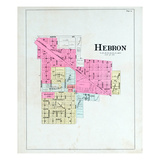 1895, Hebron, Indiana, United States Giclee Print