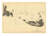 1776, Nantucket Island and the Eastern Half of Martha's Vineyard, Massachusetts Giclee Print
