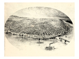 1897, Saint Louis Bird's Eye View, Missouri, United States Giclee Print