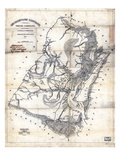 1825, Georgetown District surveyed 1820, South Carolina, United States Giclee Print