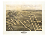 1869, Brookfield Bird's Eye View, Missouri, United States Giclee Print