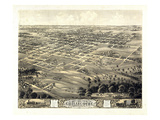 1869, Chillicothe Bird's Eye View, Missouri, United States Giclee Print