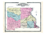 1913, County Outline Map, Missouri, United States Giclee Print
