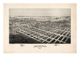 1891, Aurora Bird's Eye View, Missouri, United States Giclee Print