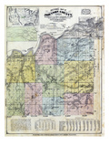 1874, Johnson County Sectional Map, Kansas, United States Giclee Print