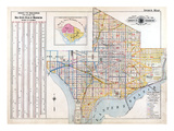 1903, Index Map, District of Columbia, United States Giclee Print