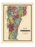 1869, Vermont, Vermont, United States Giclee Print