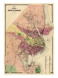 1868, New London City, Connecticut, United States Giclee Print