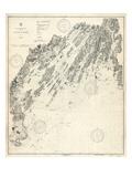1933, Casco Bay Chart, Maine, Maine, United States Giclee Print