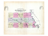 1896, County Road Map, Nebraska, United States Giclee Print