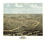 1869, California Bird's Eye View, Missouri, United States Giclee Print