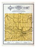 1912, Waterville Township, Lake Tetonka, Horse Shoe, Minnesota, United States Giclee Print