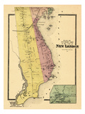 1868, New London City South, Jordan Village, Connecticut, United States Giclee Print
