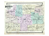 1876, Monroe County Map, Missouri, United States Giclee Print