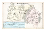 1875, Hampden, Orrington, River Road, Maine, United States Giclee Print