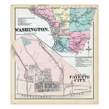 1872, Washington Township, Fayette, Belle-Vernon, Clark, Valley, Marion, Union, Pennsylvania Giclee Print