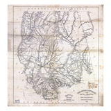 1825, Colleton District surveyed 1820, South Carolina, United States Giclee Print