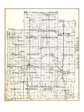 1930, Lapeer County, Rich, Burlington, Marathon, Deerfield, North Branch, Burnside, Oregon, Mayfiel Giclee Print