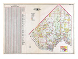 1907, Index Map, District of Columbia, United States Giclee Print