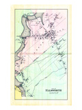 1881, Ellsworth City - Village Plan 4, Maine, United States Giclee Print